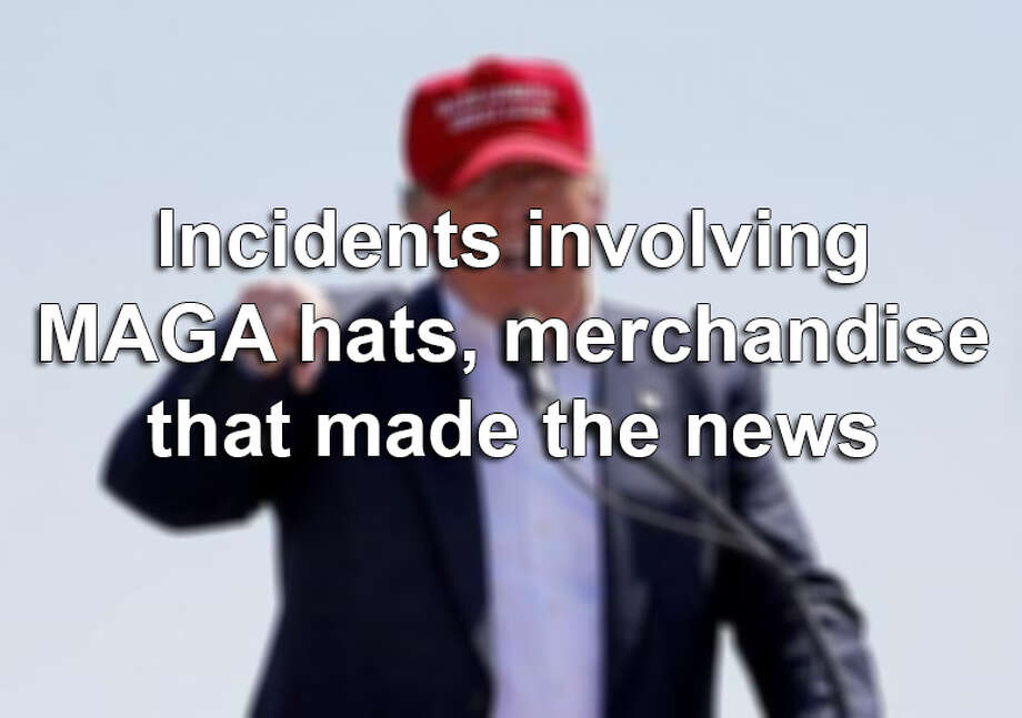 A video of an assault at a San Antonio Whataburger over a MAGA hat went viral, but it's not the only piece 'Make America Great Again' merch to make headlines. Click ahead to see other MAGA scandals that have made the news. Photo: Matt York/AP