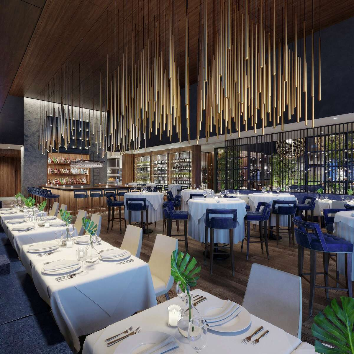 The owners of Houston's Steak 48 will open a new seafood-centric restaurant concept, Ocean 44, in Scottsdale, Ariz., in November. Plans are to bring the concept to Houston. Shown: Renderings of Ocean 44.