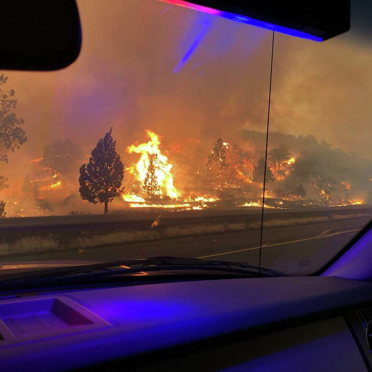 CHP Redding posted these photos of the Klamathon Fire in Hornbrook, California.