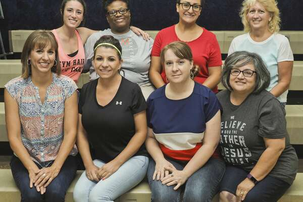 Members of the summer teaching staff at Greater Ideal summer classes, back left; Rina Price, Dacia Mutcherson, Angelica Molina and Pam Brower, front left; Lora Pipkin, Jennifer Nunez, Ginger Whitson and Rosalinda Lares. 07/06/18 Tim Fischer/Reporter-Telegram