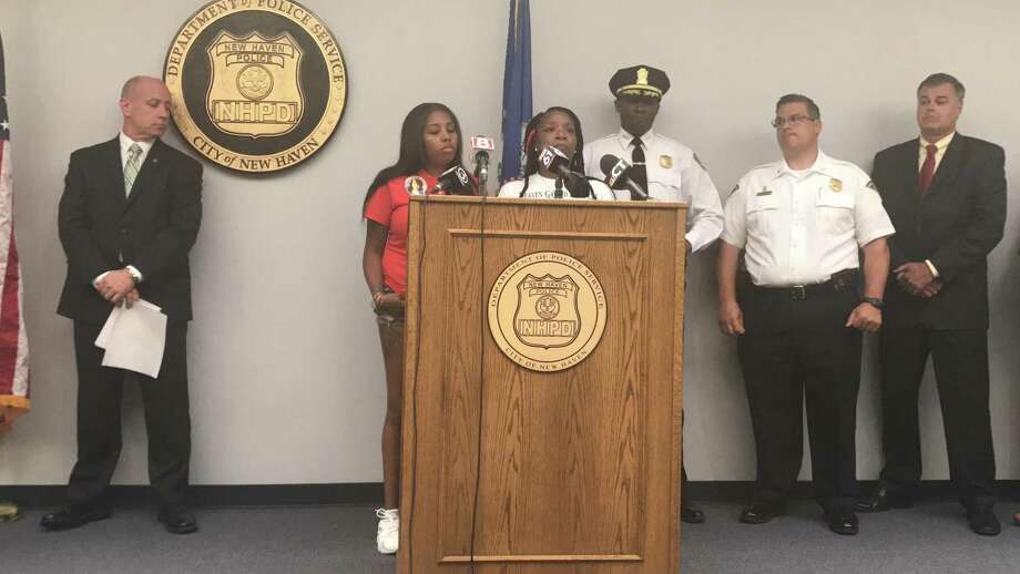 More than a month after Tyekqua Nesbitt, 28, was shot to death in her car in front of her children, law enforcement and her sisters implored the community to help them apprehend the shooter. Photo: Jessica Lerner / Hearst Connecticut Media