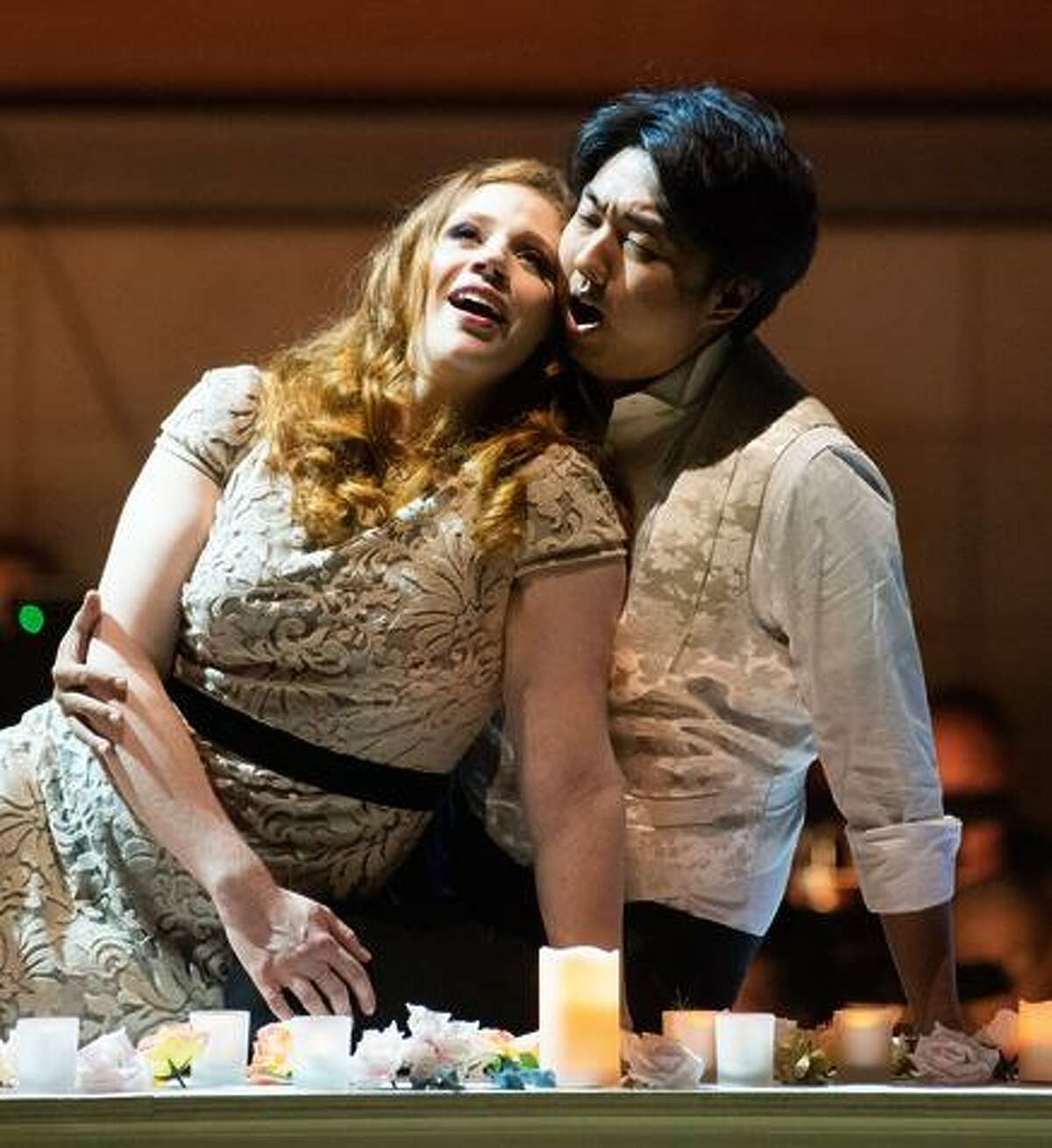 Kendra Berentsen and WooYoung Yoon sing Bizet.