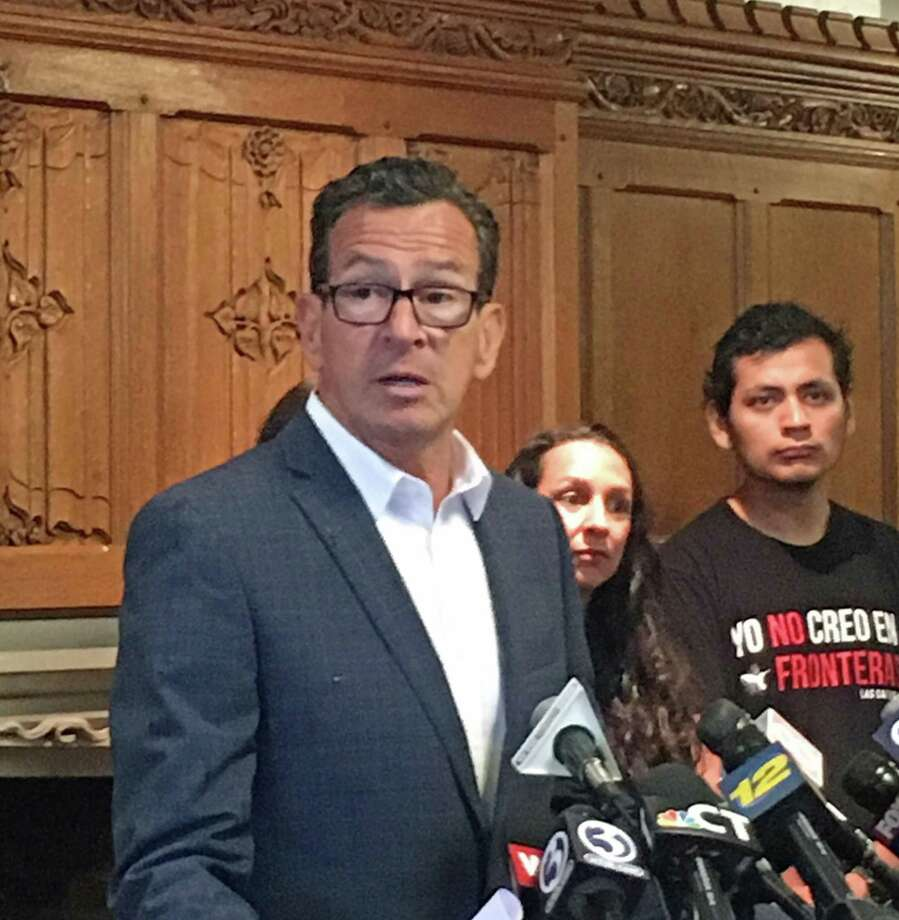 Gov. Dannel P. Malloy spoke at a press conference at Yale Law School in New Haven, Conn. on Friday July 6, 2018 in support of a federal law suit filed on behalf of two immigrant children detained in Connecticut and separated from their parents at the U.S.-Mexico border. Photo: Emilie Munson / Hearst Connecticut Media / Connecticut Post