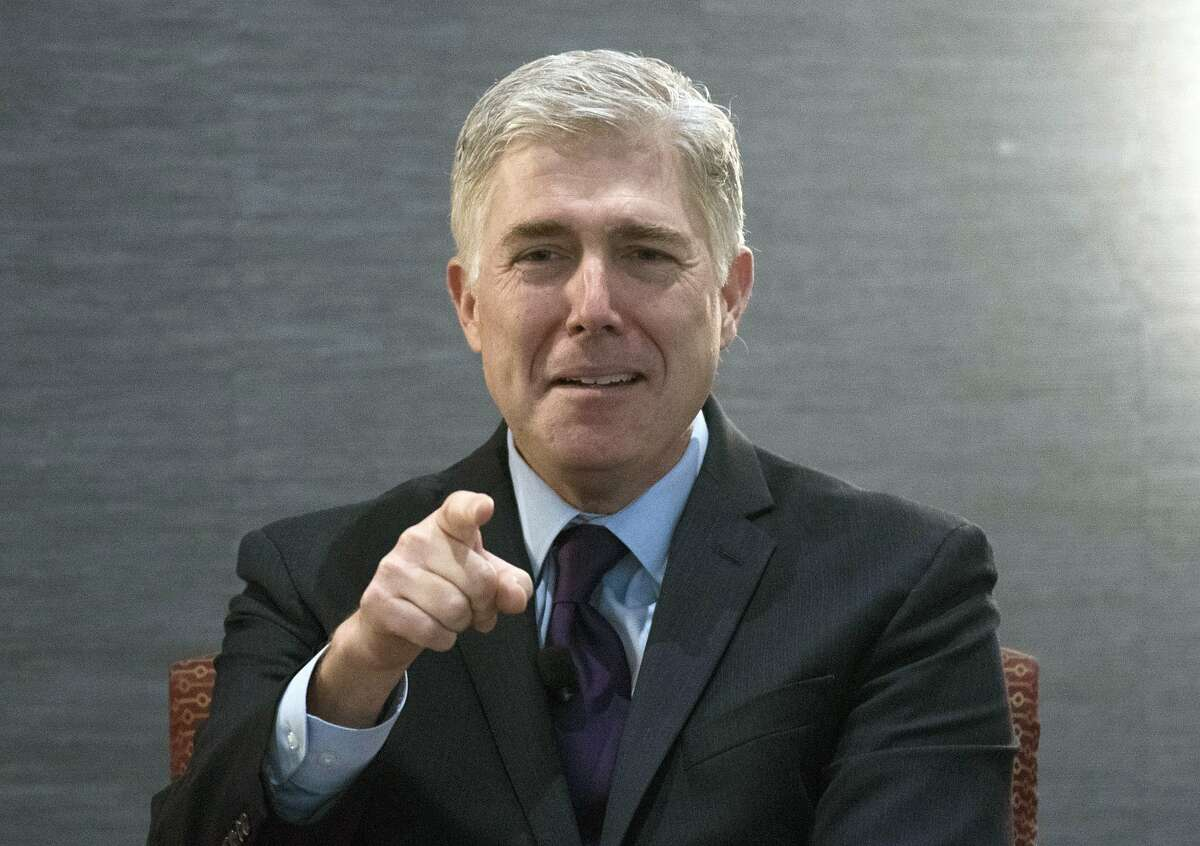 Supreme Court Associate Justice Neil Gorsuch speaks about civility and professionalism in the practice of law at an American Inns of Court event in Washington in 2017.