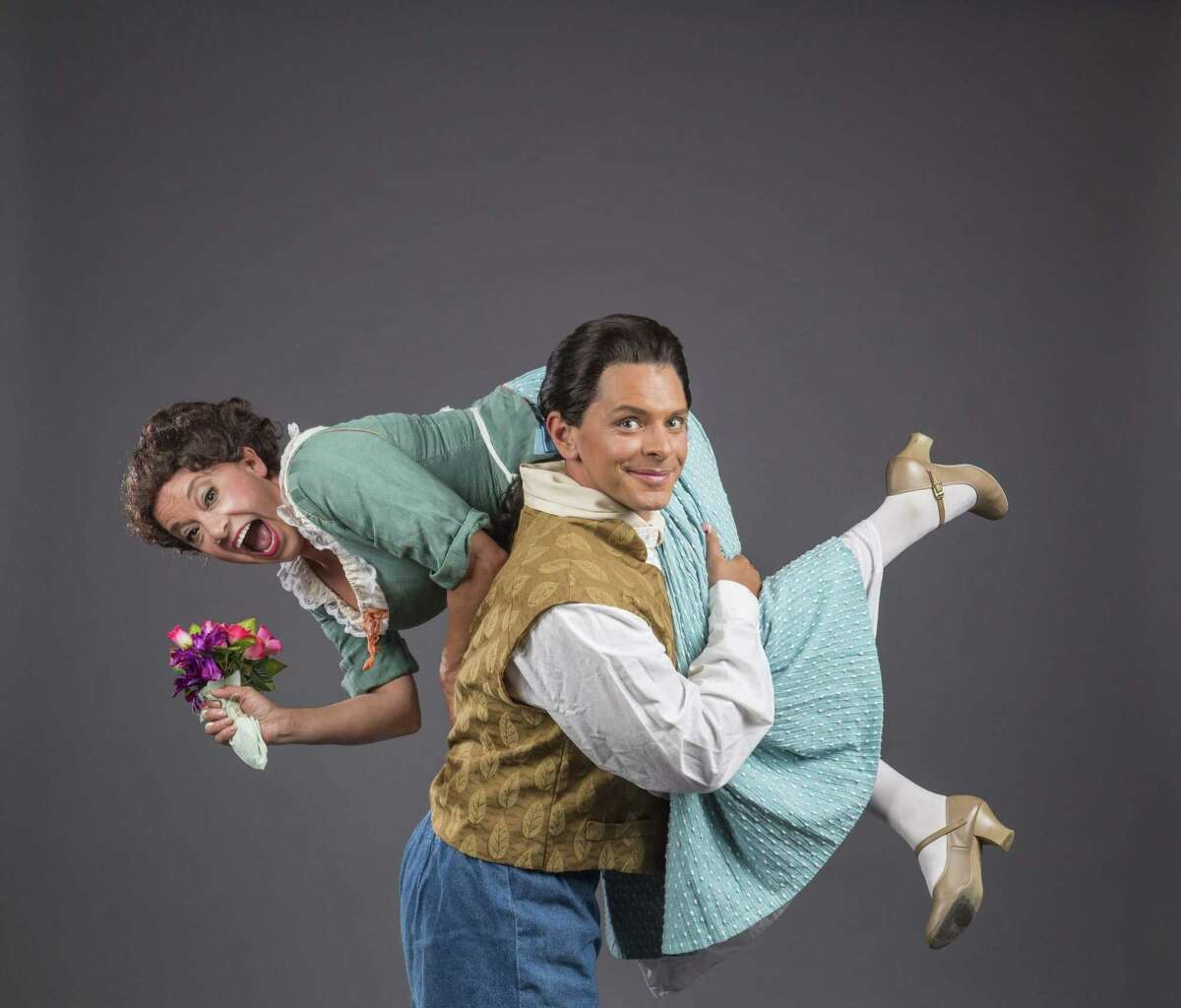 """Aimée Puentes and Dan Yoder in Mozart's """"The Marriage of Figaro"""" at Pocket Opera"""