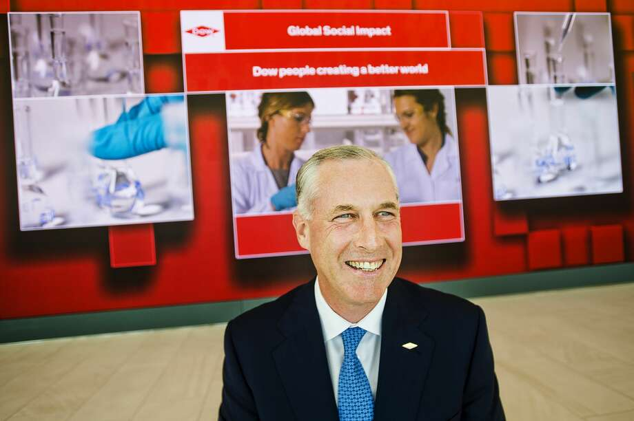 Dow CEO-elect Jim Fitterling poses for a portrait inside the newly opened visitor center at Dow's Midland corporate campus on June 18, 2018. (Katy Kildee/kkildee@mdn.net)t Photo: (Katy Kildee/kkildee@mdn.net)