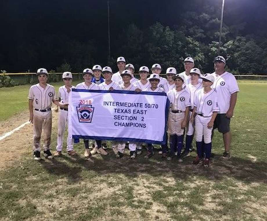 Montgomery Little League's Intermediate 50/70 baseball team, pictured after a section championship, will compete in the state tournament this weekend. Pictured, left to right, front row: Jacob Truitt, Adam Shipp, Joshua Cotton, Carson Davis, Rhett Hall, Ethan Cummins, Christopher May, Keller Divin; Middle Row: Crispin Shipp, Chaston Wellman, Holden Weimer, Damian Williams, Kaleb Patton, Braxtyn Vackar; back row: coaches Matt Shipp, Bill Weimer and Blayne Vackar.
