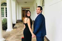 Fox News TV personality Kimberly Guilfoyle joins new boyfriend Donald Trump� Jr. at 4th of July festivities at the White House.