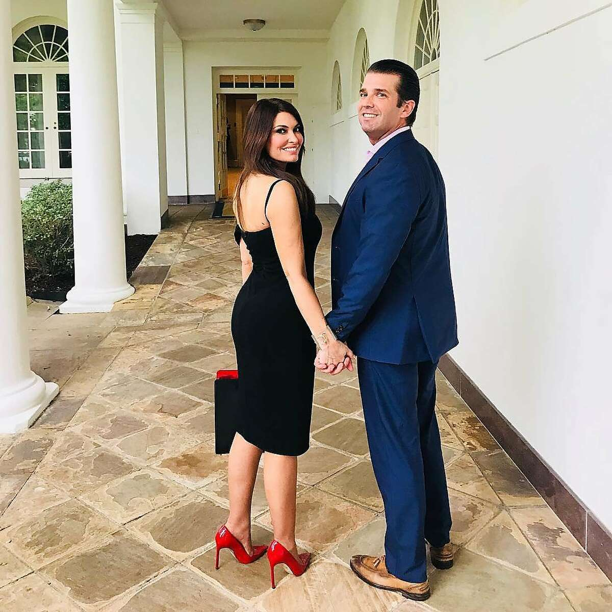 Fox News TV personality Kimberly Guilfoyle joins new boyfriend Donald Trump Jr. at 4th of July festivities at the White House.