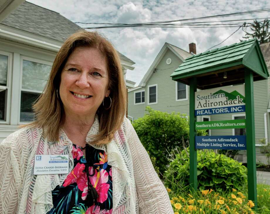 Luise Craig-Sherman association executive/CEO of Southern Adirondack Realtors, Inc. at her offices Tuesday July 3, 2018 in Queensbury, N.Y. (Skip Dickstein/Times Union) Photo: SKIP DICKSTEIN