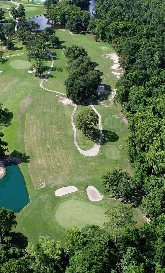 Drone photo of the fairway on hole 17 at Sunset Grove Country Club. Photo: Beaumont Enterprise