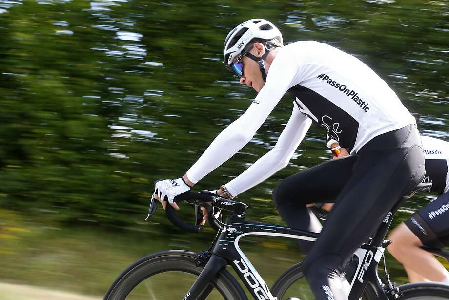 Four-time Tour de France winner Chris Froome take a training ride Friday. Photo: Peter Dejong / Associated Press