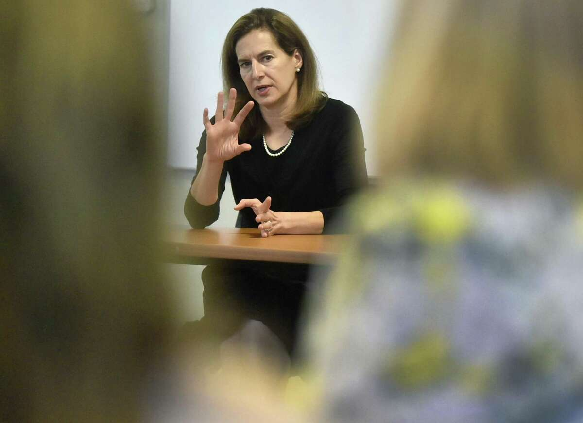 Susan Bysiewicz, democratic candidate for Connecticut Lt. Governor, shared her perspectives on leadership, politics, policy and the future of Connecticut at the Area Cooperative Educational Services in Hamden recently.