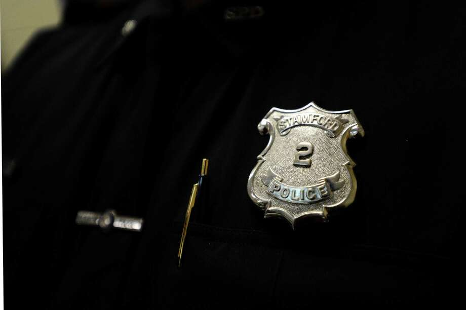 A Stamford police officer badge Photo: Hearst Connecticut Media File Photo / Stamford Advocate