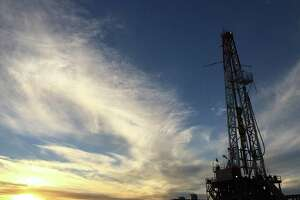 A drilling rig sits in the Delaware Basin portion of West Texas on acreage produced by Lilis Energy, which moved its headquarters to Houston in June.