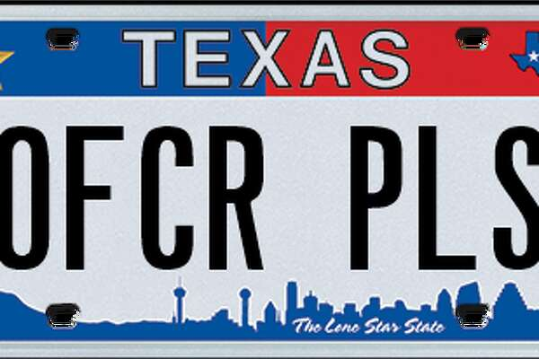 This plate was rejected by the Texas Department of Motor Vehicles in February, 2018.