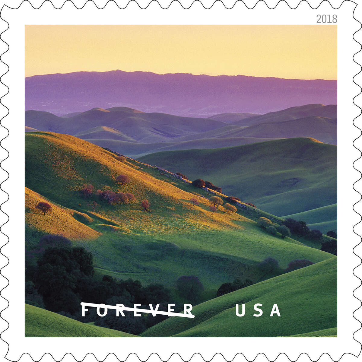 Photographer Gary Crabbe contributed seven photos to the USPS' new stamp line,