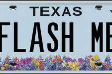 This plate was rejected by the Texas Department of Motor Vehicles in April, 2018.