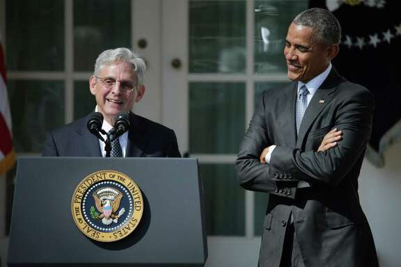 Judge Merrick Garland speaks in 2016 after being introduced by U.S. President Barack Obama as his nominee to the Supreme Court. A reader skewers Republicans for perceived hypocrisy four years later.