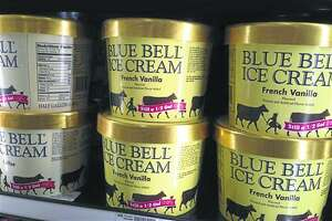 FILE - In this April 10, 2015 file photo, Blue Bell ice cream rests on a grocery store shelf in Lawrence, Kansas. In the wake of a deadly listeria outbreak in ice cream, the Justice Department is warning food companies that they could face criminal and civil penalties if they poison their customers. (AP Photo/Orlin Wagner, File)