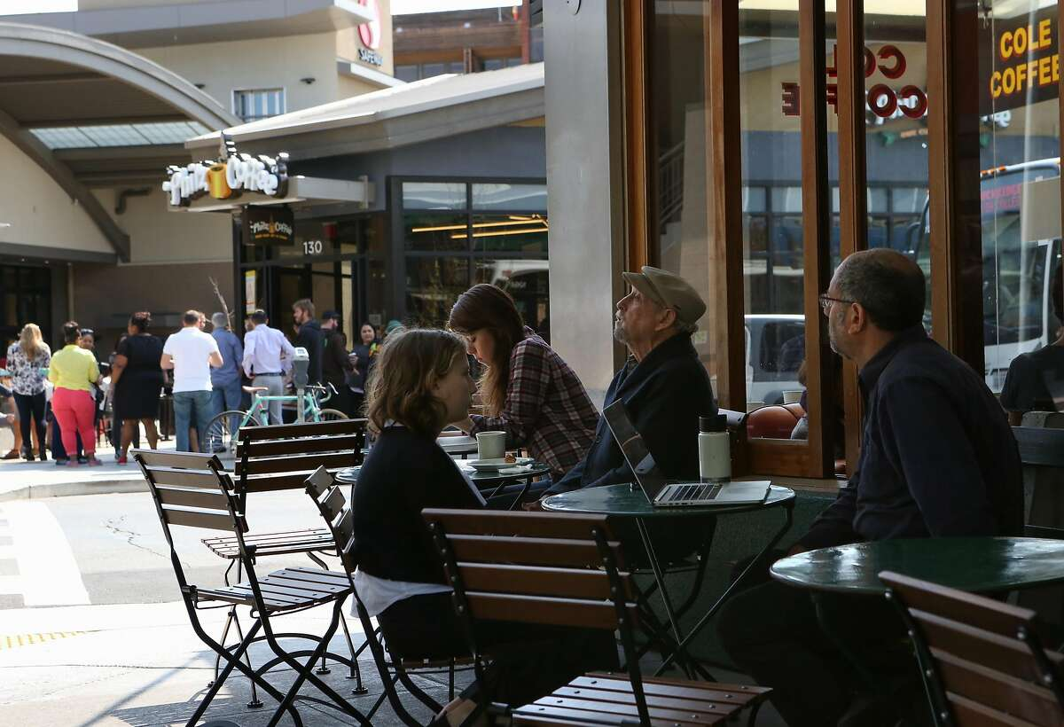 The new Philz Coffee, located directly across the street from Cole Coffee, is a source of contention for local residents and nearby shop owners in Oakland, Calif., on Tuesday, March 31, 2015.
