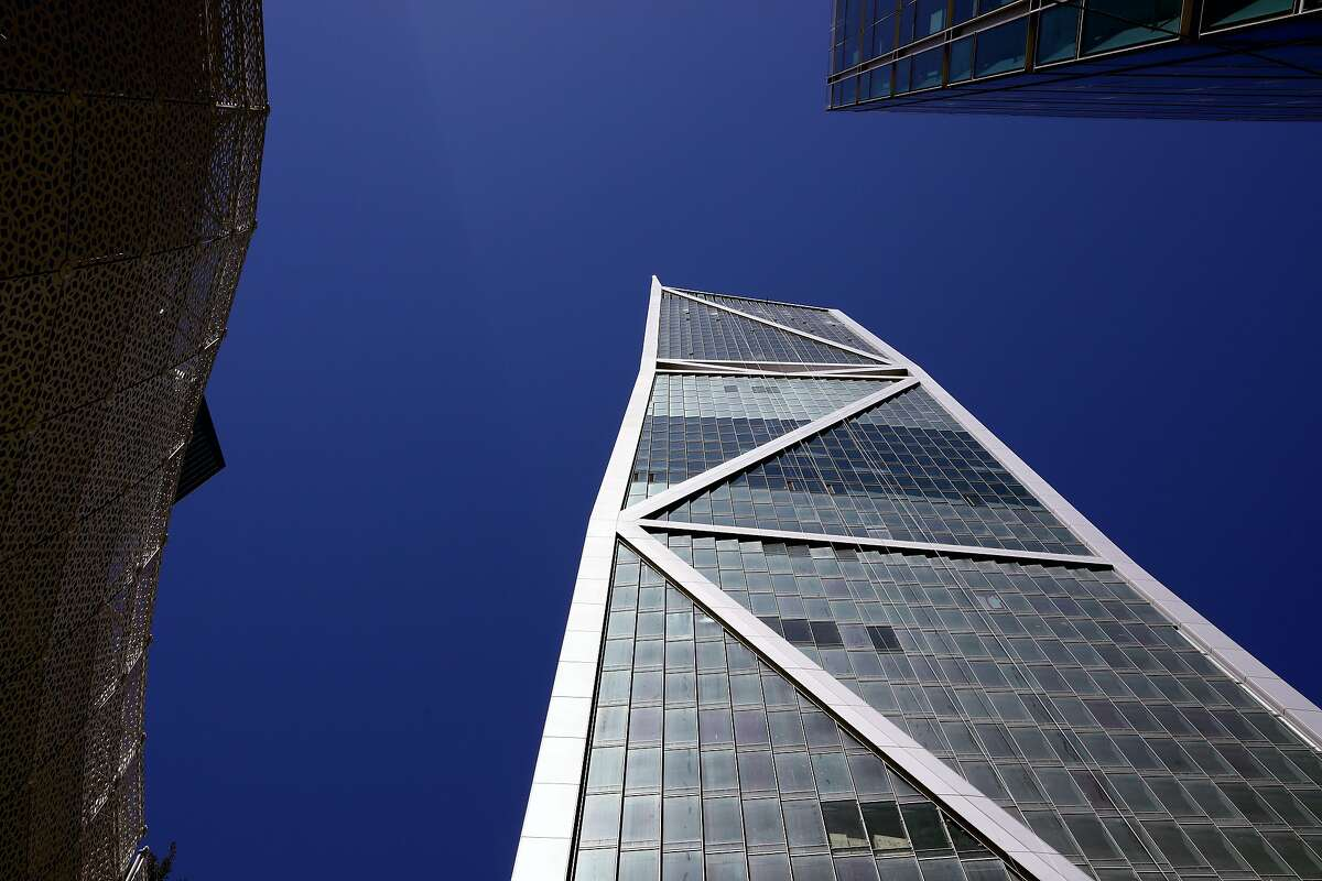 The new high-rise, located at 181 Fremont St., is 800 feet tall and has a spike on top of the structure in San Francisco, California on Thursday, July 5, 2018.
