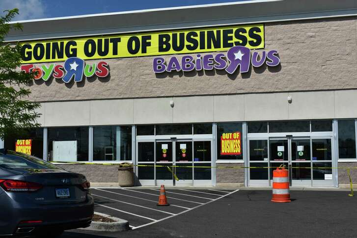 Yellow warning tape that in mid-June 2018 roped off spent aisles at Toys R Us in Norwalk has now moved to front doors, after the 59 Connecticut Ave. store closed its doors on Thursday, June 28, following a bankruptcy dissolution.