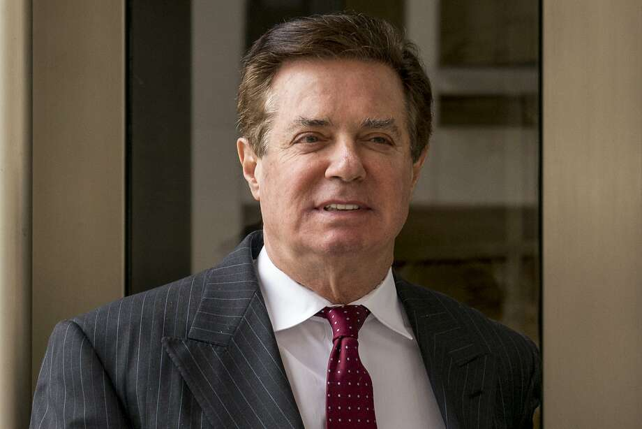 FILE - In this April 4, 2018, file photo, Paul Manafort, President Donald Trump's former campaign chairman, leaves the federal courthouse in Washington. Lawyers for Paul Manafort, President Donald Trump's former campaign chairman, have asked a judge to relocate a criminal trial starting later this month because of pretrial publicity, his lawyers said in court papers Friday, July 6. (AP Photo/Andrew Harnik, File) Photo: Andrew Harnik / Associated Press