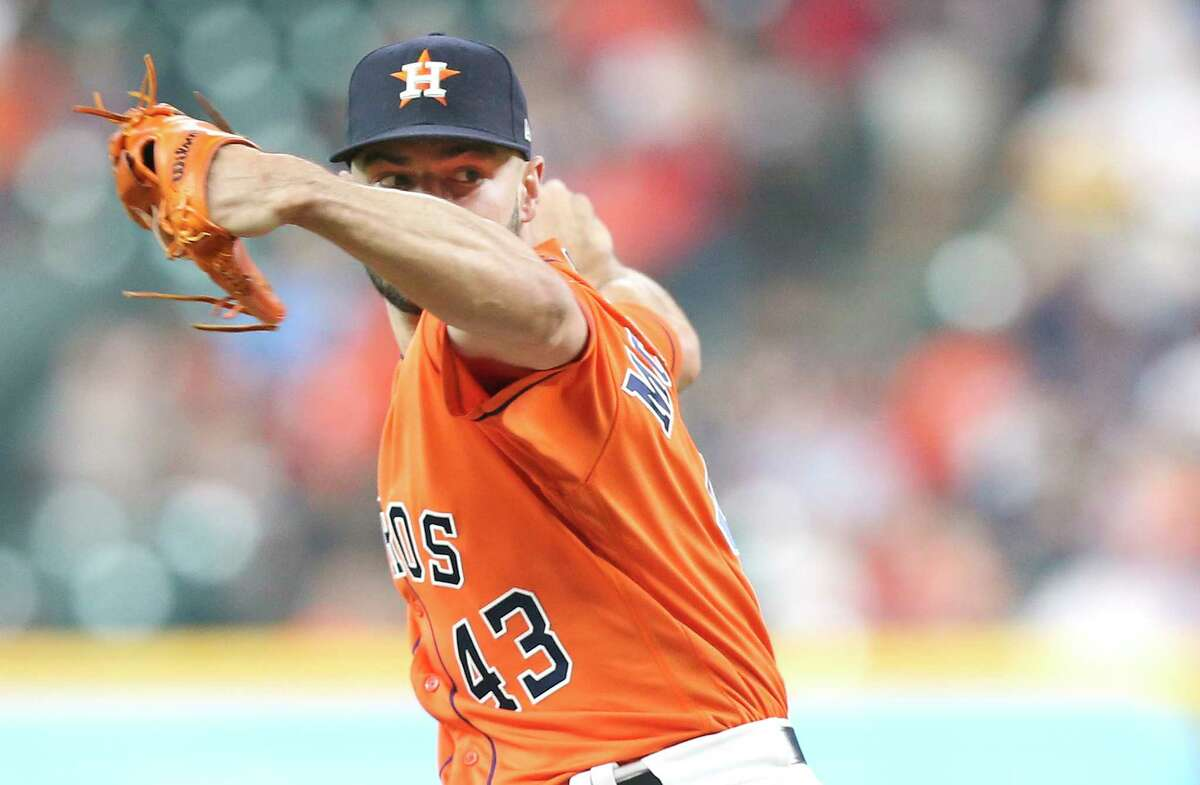 Houston Astros starting pitcher Lance McCullers Jr. (43) pitches in the first inning against the Chicago White Sox at the Minute Maid Park on Friday, July 6, 2018 in Houston.