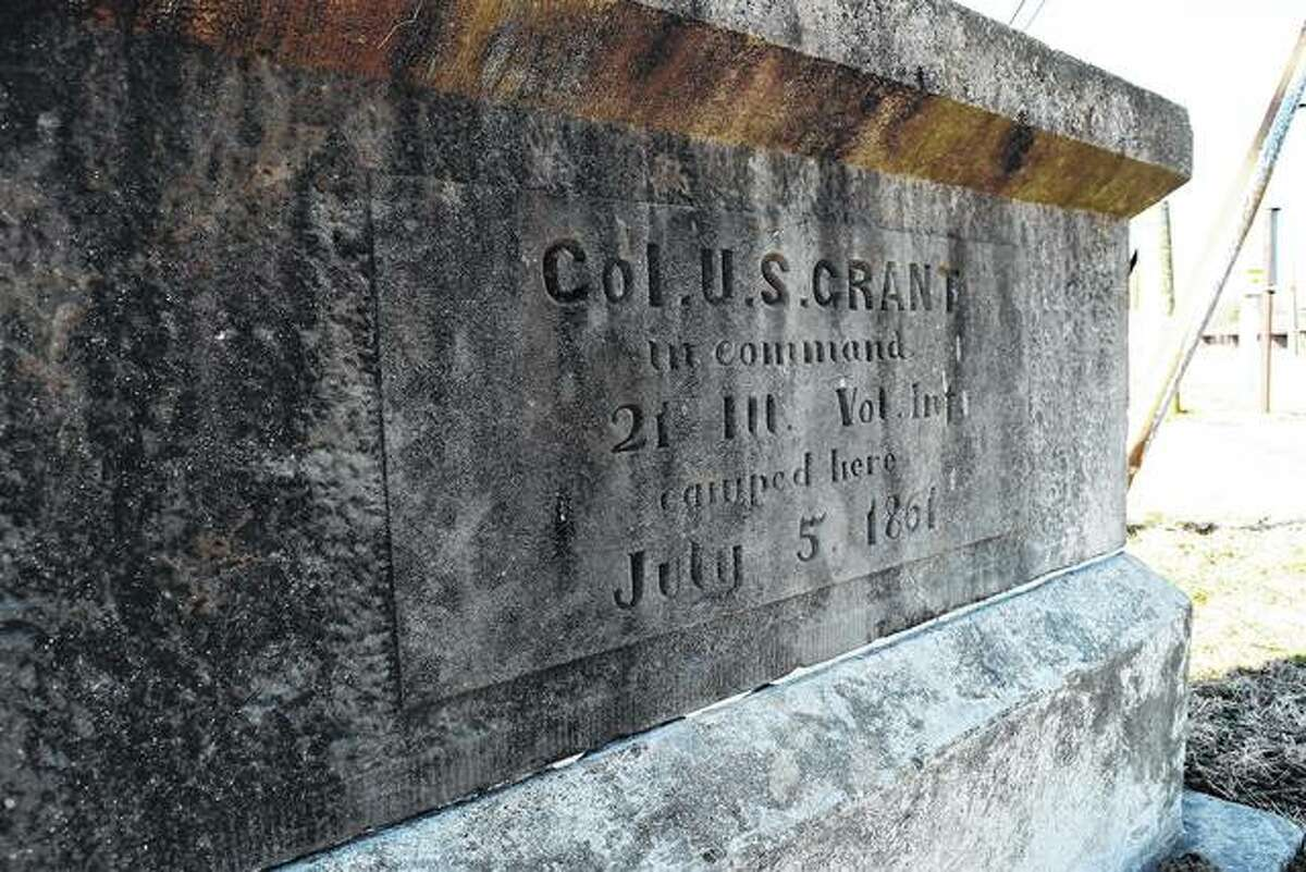 A Col. U.S. Grant marker at the Morgan County Fairgrounds in Jacksonville.