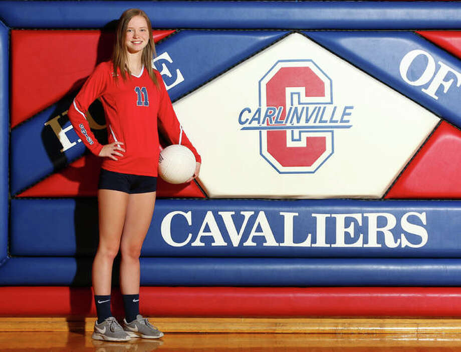 Carlinville setter Sydney Bates is the 2017 Telegraph Small-Schools Volleyball Player of the Year after helping the Cavaliers to an Elite Eight appearance in a 23-14 season. Photo:       Billy Hurst | For The Telegraph