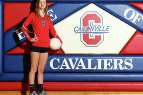 Carlinville setter Sydney Bates is the 2017 Telegraph Small-Schools Volleyball Player of the Year after helping the Cavaliers to an Elite Eight appearance in a 23-14 season.