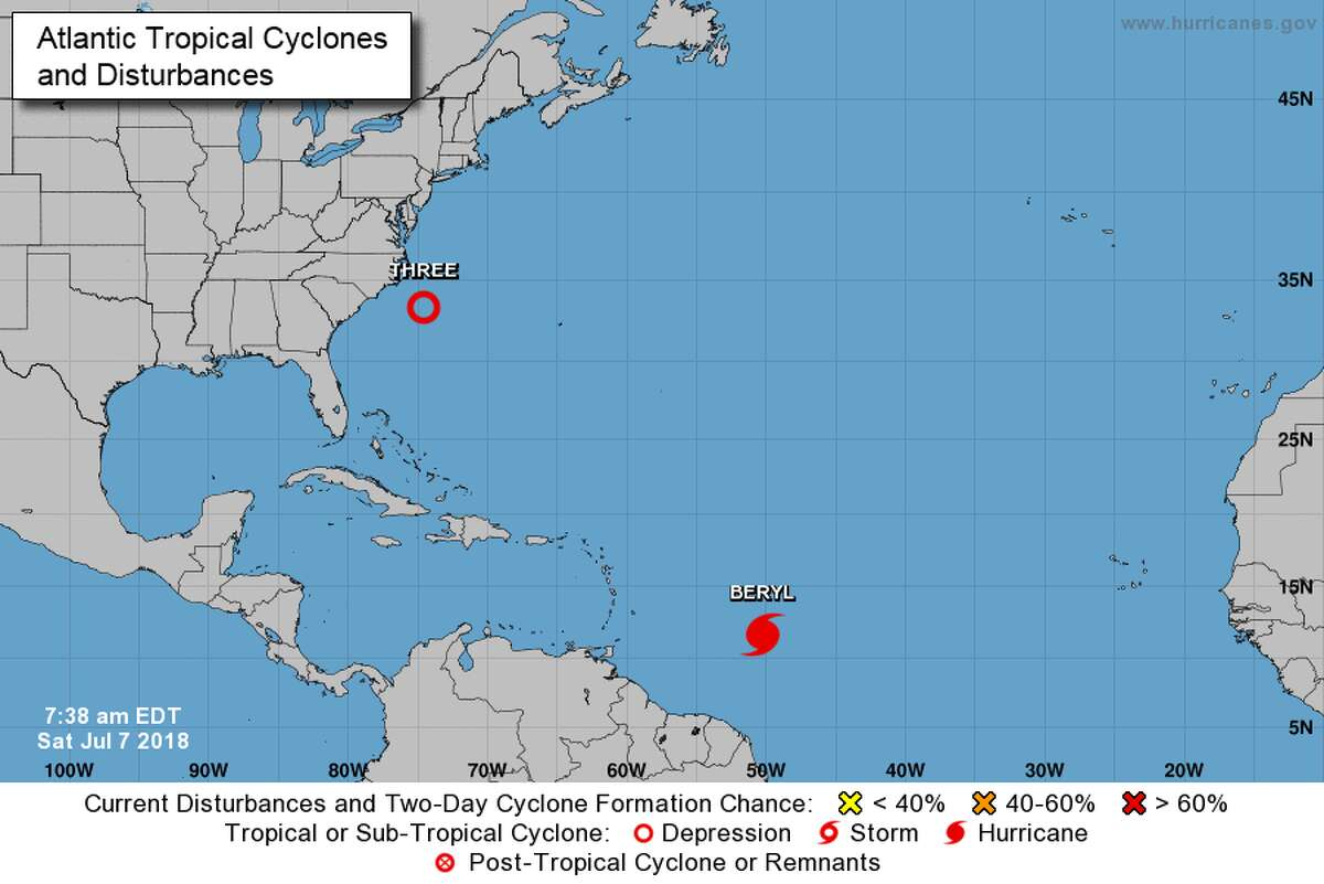 The National Weather Service is watching two active spots in the Atlantic this week.