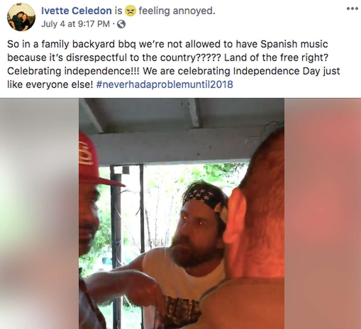 A Petaluma man apologized after a video of him confronting his neighbors for playing Spanish-language music on Fourth of July went viral.