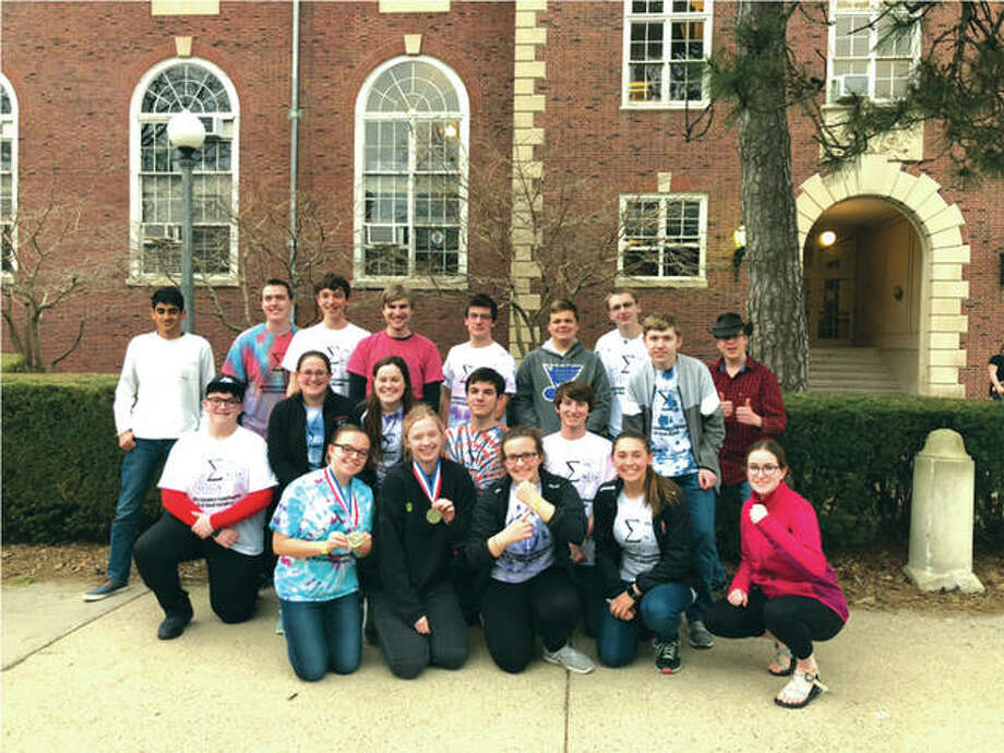 The Edwardsville High School Science Olympiad Team. Photo:       For The Telegraph