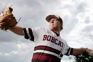 Blake Wilson, All Greater Houston pitcher of the year at his home field at Cy-Fair High School in Cypress, TX, July 6, 2018. (Michael Wyke / For the  Chronicle)