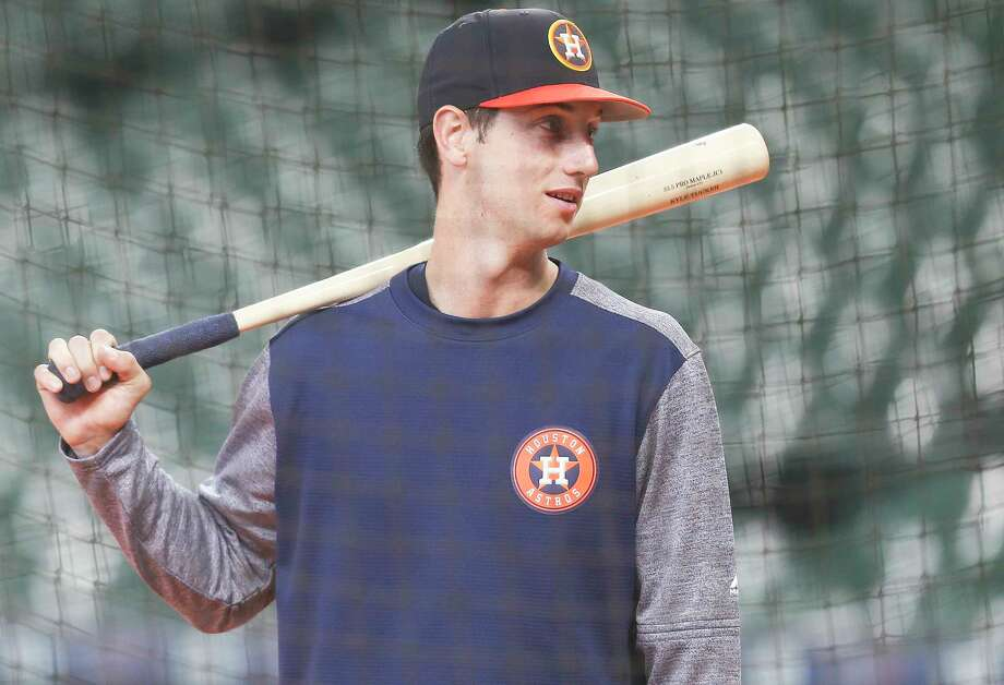 Houston Astros Kyle Tucker preps for batting practice at Minute Maid Park before the Astros take on Chicago White Soxon Saturday, July 7, 2018 in Houston.  (Elizabeth Conley/Houston Chronicle) The prospect was called up from AAA Fresno. Photo: Elizabeth Conley, Houston Chronicle / ©2018 Houston Chronicle