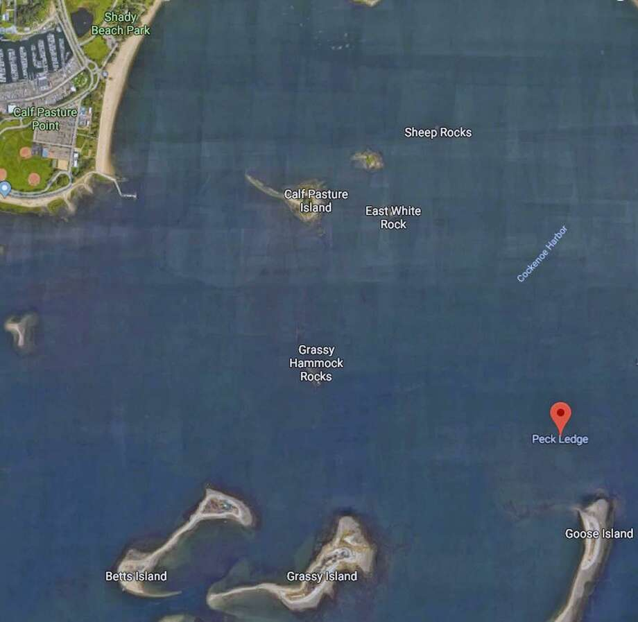 Four people were rescued from a sinking boat off the coast of Norwalk, Conn., on July 7, 2018. Photo: Contributed Photo / Google Maps / Contributed Photo / Connecticut Post Contributed