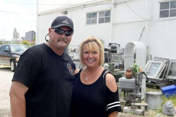 David and Kristi Tanton at Beaumont Junk Days at BAW Resale and Interiors.   Photo taken Saturday 7/7/18  Ryan Pelham/The Enterprise