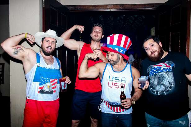 The monthly downtown pub run for First Friday rocked a patriotic theme Friday night, July 6, 2018.