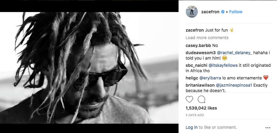 Zac Efron is catching heat for this Instagram post showing him in dreadlocks. Click through to see how people on Twitter reacted to the photo. >>> Photo: Screengrab Via Instagram