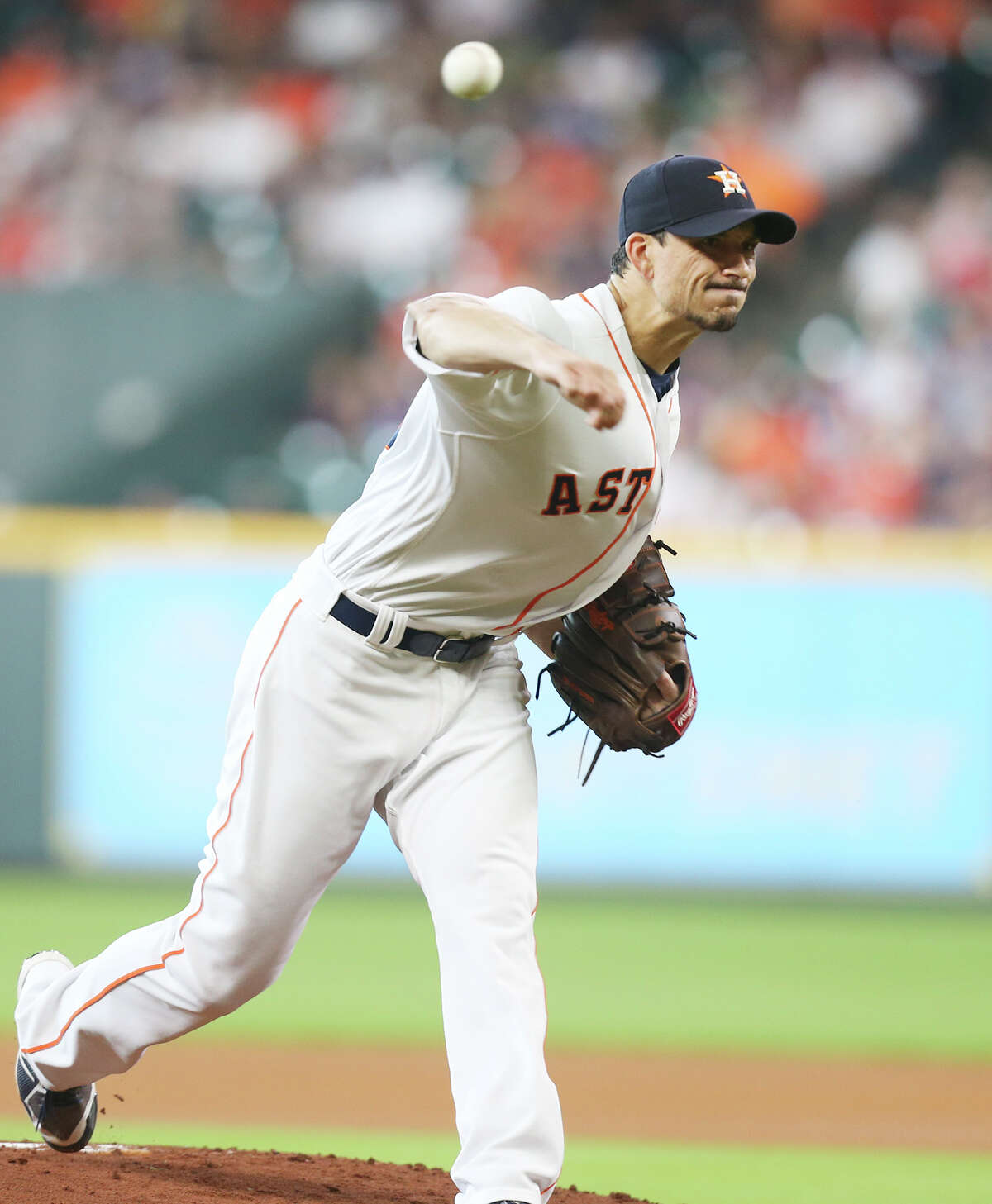 Houston Astros starting pitcher Charlie Morton (50) pitches in the first inning against the Chicago White Sox at Minute Maid Park on Saturday, July 7, 2018 in Houston.