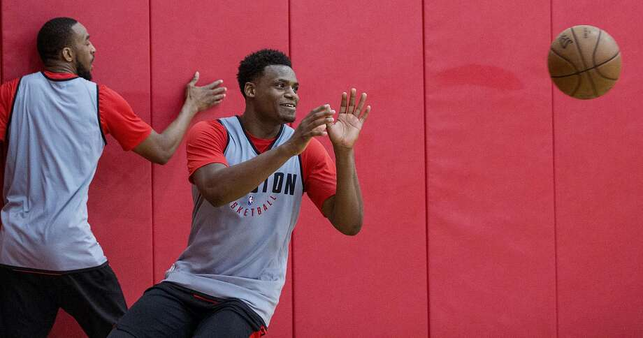 Houston Rockets forward Danuel House takes a pass during practice for the Rockets NBA rookie summer league at Toyota Center on Thursday, July 5, 2018, in Houston. ( Brett Coomer / Houston Chronicle ) Photo: Brett Coomer / Houston Chronicle