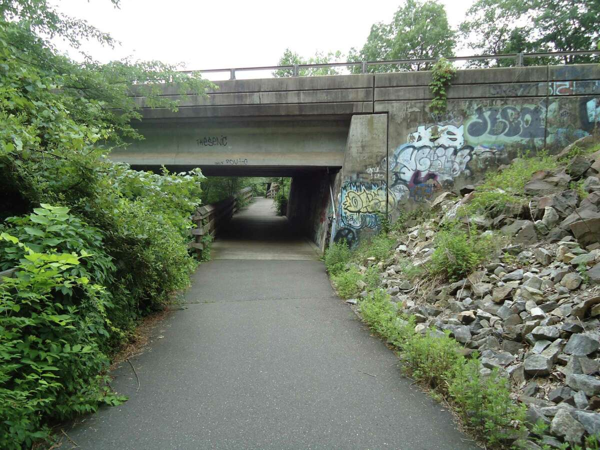 A Route 25 underpass for the rail trail in Trumbull.
