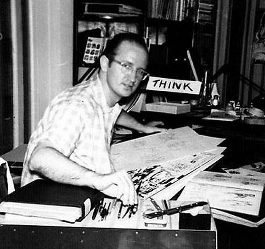 In a photo provided by Marvel Comics, Steve Ditko, an artist who helped create the earliest Spider-Man comics, at his desk in the 1960s. Ditko, who is celebrated for his cinematic storytelling and the philosophical convictions that colored his work, remains for many fans the definitive interpreter of Spider-Man. He was found dead at home in Manhattan on June 29, 2018, at age 90. (Marvel Comics via The New York Times) -- NO SALES; FOR EDITORIAL USE ONLY WITH  OBIT-DITKO BY WEBSTER FOR JULY 8, 2018. ALL OTHER USE PROHIBITED. -- Photo: MARVEL COMICS, NYT
