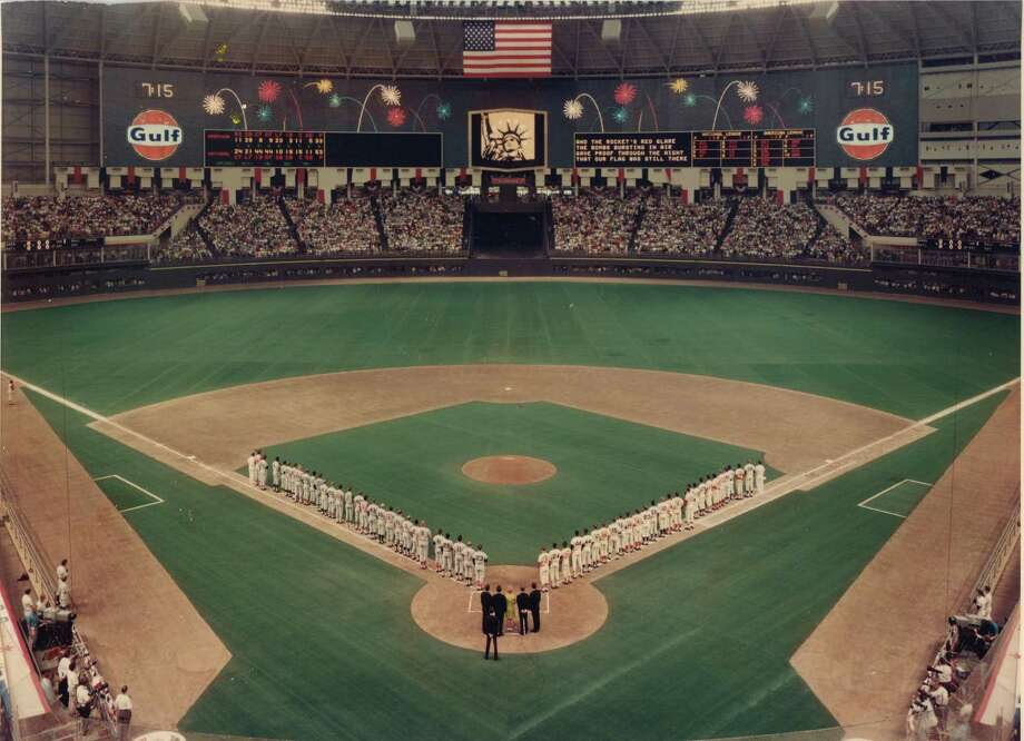 The opening ceremony of the 39th All-Star Game, played at the Astrodome on July 9, 1968. Photo: Houston Astros / handout