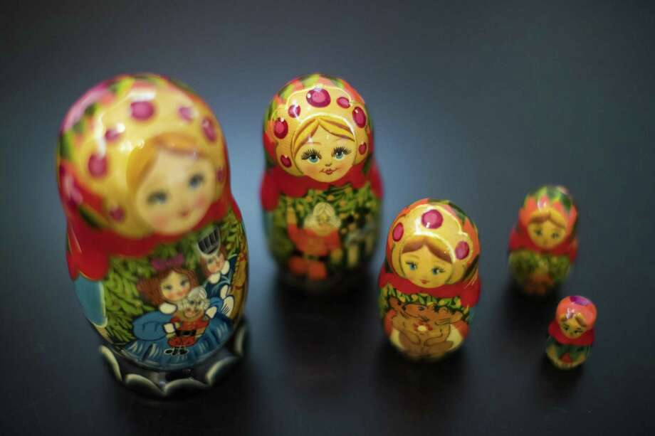Hand painted matryoshka doll, also known as a Russian nesting doll available for sell at the Russian Cultural Center, Saturday, July 7, 2018, in Houston. ( Marie D. De Jesús / Houston Chronicle ) Photo: Marie D. De Jesús, Staff / Houston Chronicle / © 2018 Houston Chronicle