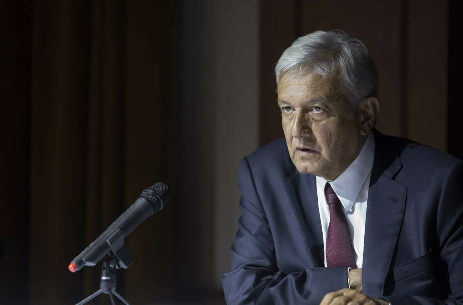 El prsidente electo de México, Andrés Manuel López Obrador, da una conferencia de prensa en la Ciudad de México, el jueves 5 de julio. Photo: Moisés Castillo /Associated Press / Copyright 2018 The Associated Press. All rights reserved