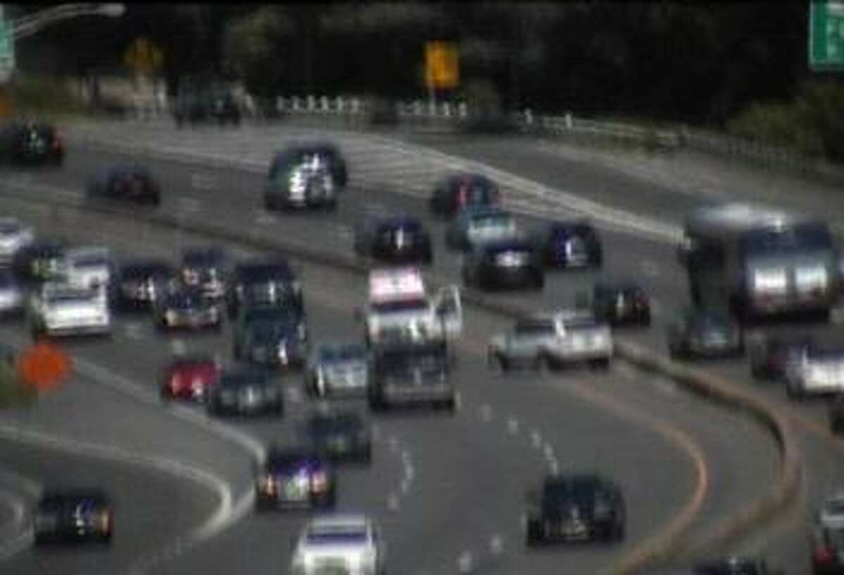 STRATFORD - A motor vehicle accident on I-95 Southbound between Exits 34 and 32 in Stratford closed the highway's left lane shortly before 3 p.m. Sunday, July 8, 2018.
