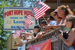 These are scenes from Port Hope's Fourth of July parade on Sunday.